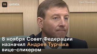 Андрей Турчак стал вице-спикером Совета Федерации