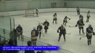 Acton Boxborough Girls Ice Hockey at Cambridge 12/16/15
