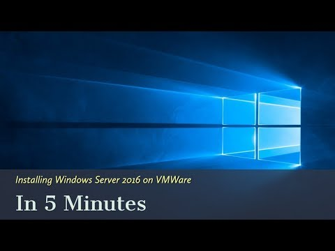 Installing Windows Server 2016 On VMWare In 5 Minutes