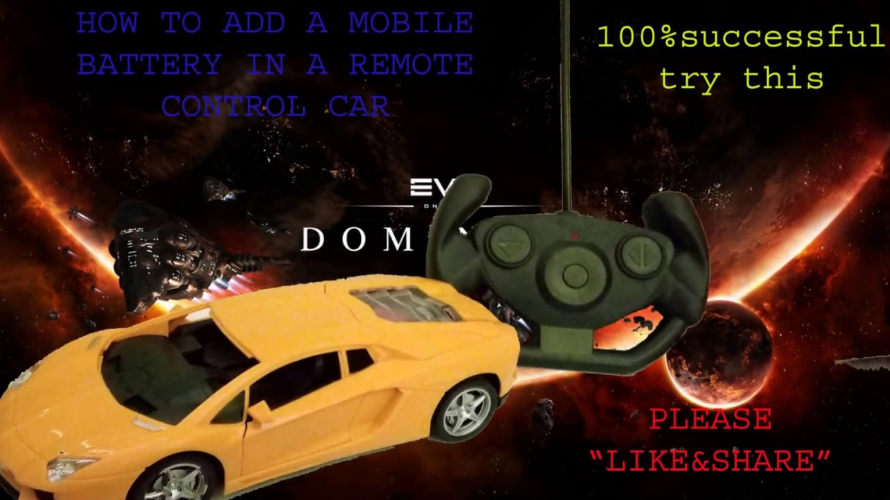 HOW TO ADD A MOBILE BATTERY IN A REMOTE CONTROL CAR