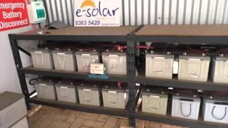 48 volt Off Grid System.  Battery Information.  Garden update