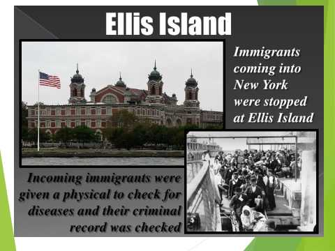 Unit 4 Immigration 1900'S