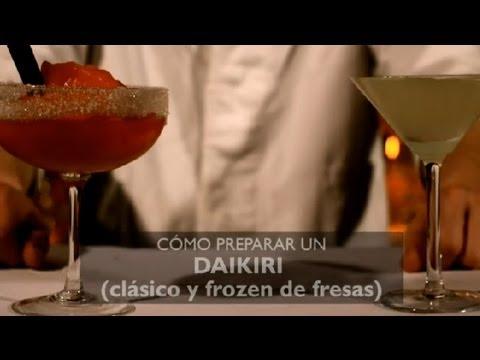 Como Preparar un Daikiri (Clasico & Frozen de Fresas) : Los Cocteles Mas Populares