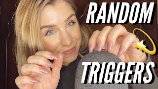 ASMR | 💫 RANDOM TRIGGERS - nail tapping/hand sounds/mouth sounds!