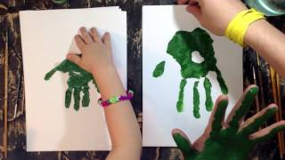 How to draw a turtle. Handprint