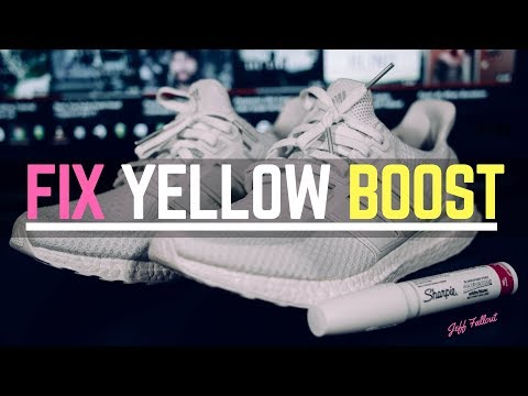How To Clean and Whiten Yellow Adidas Ultraboost / NMD 🔥🔥🔥
