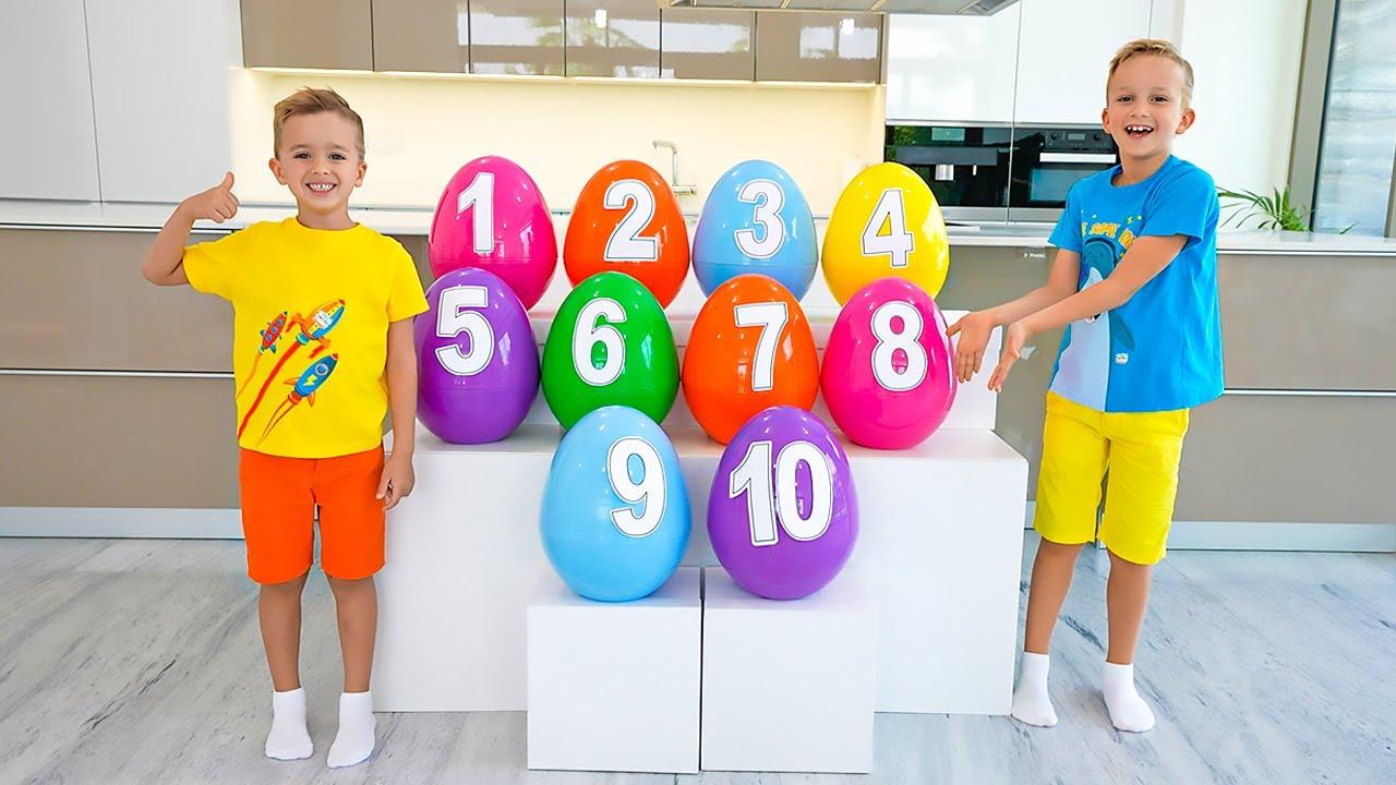 Download Apprenez les nombres 1-10 avec Vlad & Niki et bébé Chris