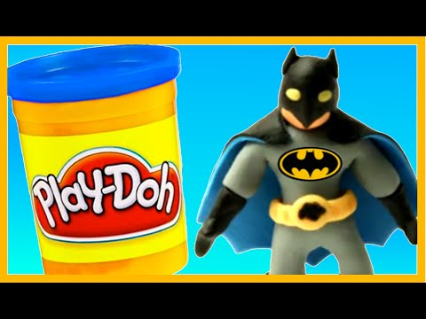 Batman Superheroes Play Doh Stop Motion Animation Videos Kids DC Comics PlayDoh Stop Motion Videos