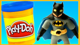 Batman Superheroes Play Doh Stop Motion Animation Videos Kids DC Comics PlayDoh Stop Motion Videos
