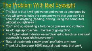 Eye Exercises For Myopia - Is It Possible To Naturally Improve Nearsightedness (Part 1)