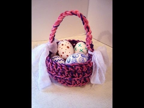 Crochet easter basket how to diy youtube negle Choice Image
