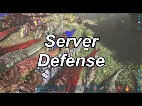 Server Defense Against Space Cowboys, Power Rangers, The Unknown | Ark Official Defense PS4