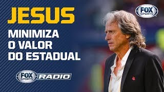 """""""PARA MIM, NÃO FOI UM JOGO OFICIAL"""": """"Fox Sports Rádio"""" debate fala de Jorge Jesus após vitória"""