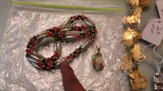Yard sale haul and jewelry haul #50 (Sept. 1,2018)