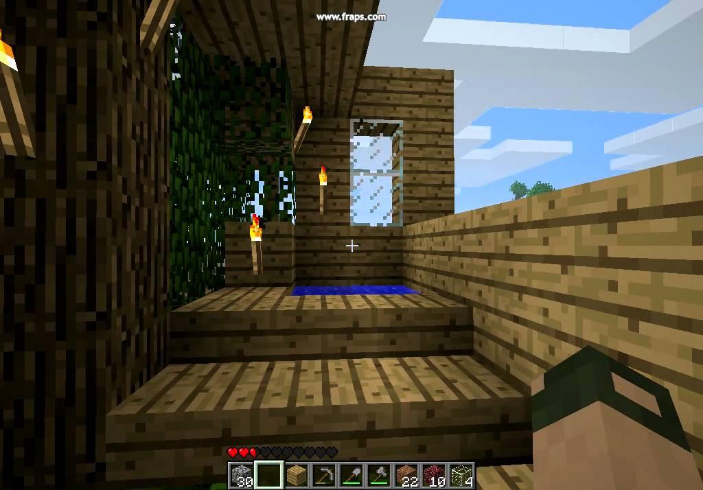 Minecraft cabane 1 interieur a coter de chez moi id e de maison youtube for Interieur de maison