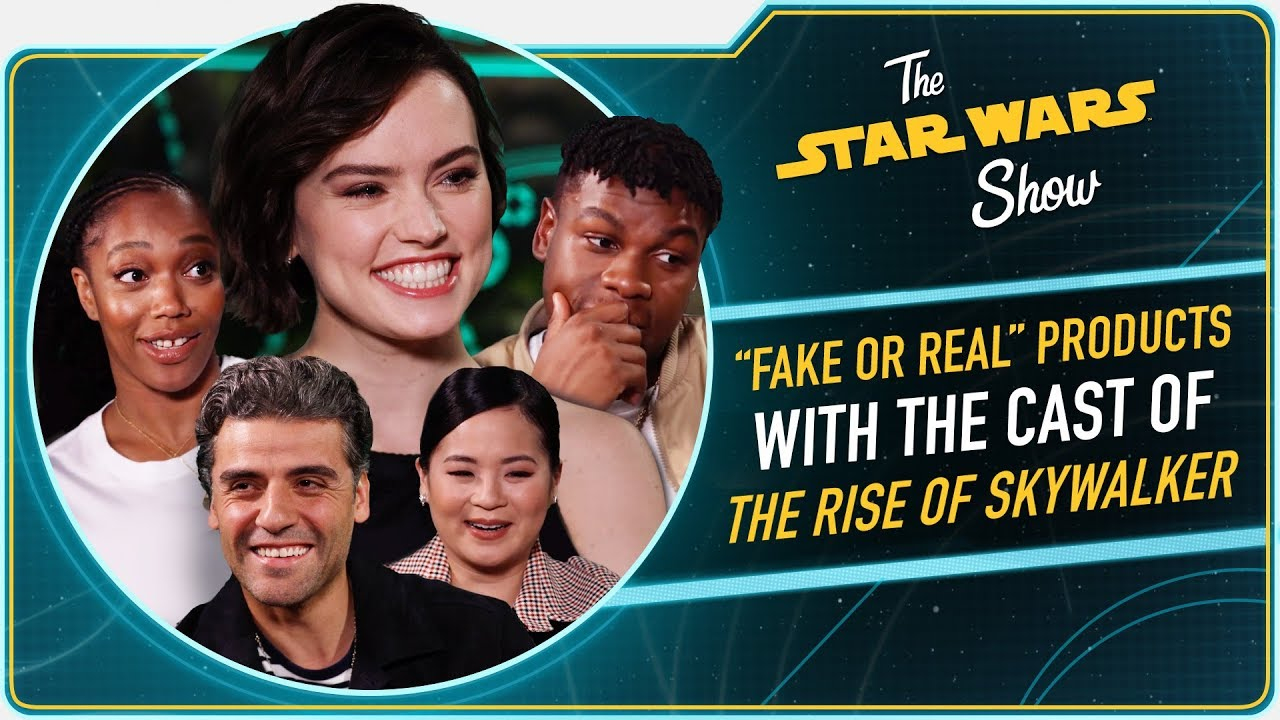 The Rise Of Skywalker Cast Test Their Star Wars Merchandise Spotting Skills Youtube