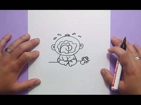 Como dibujar un bebe paso a paso how to draw a baby youtube - Como banar a un bebe ...