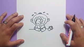 Como dibujar un bebe paso a paso | How to draw a baby