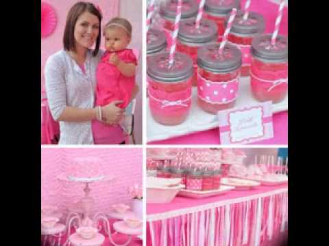 Baby girl first birthday decorations youtube for Baby first birthday decoration