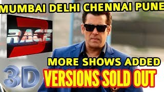 RACE 3D VERSIONS ADVANCE BOOKING REPORT MUMBAI PUNE CHENNAI DELHI | THEATRE OWNERS WANT MORE SHOWS