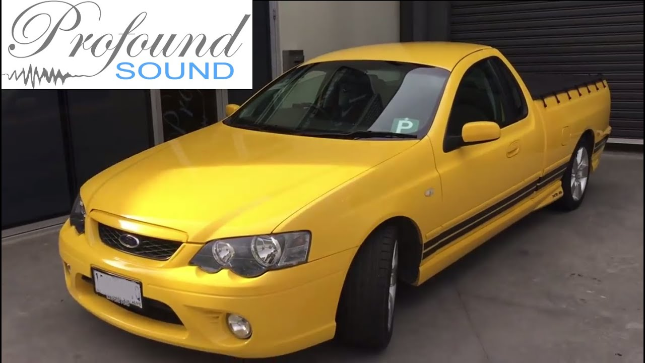 Profound Sound Bf Falcon Ute Full Audio Installation Youtube Ford Fg Wiring Diagram