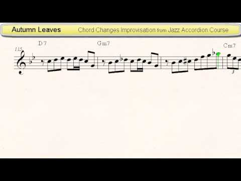 Autumn Leaves - Jazz Accordion Sheet Music