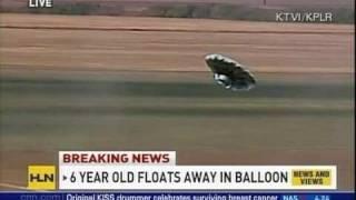 """Balloon Boy"", ""Falcon"" Missing Colorado 6 year old Boy in Balloon - Flying Saucer"