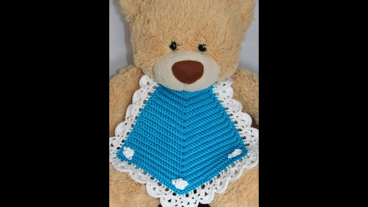Youtube Com Make Up Tutorial: Crochet An Easy Baby Bib