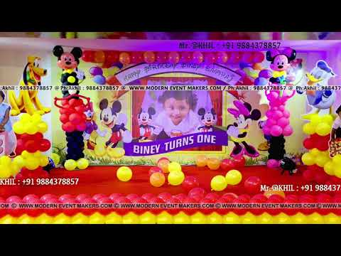 Disney Theme Birthday Party in Chennai by Moderneventmakers com Ph +91 9884378857