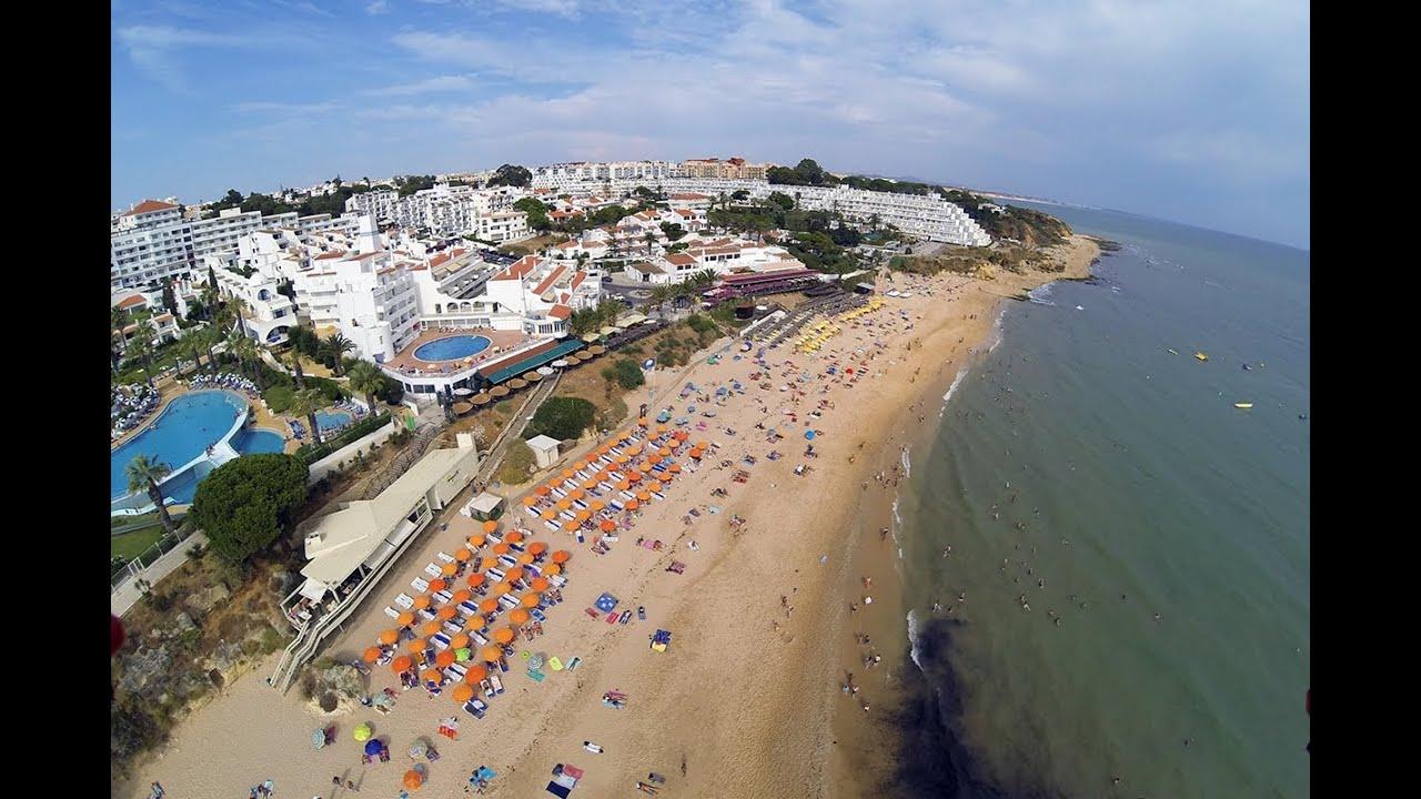 Oura Beach Flight Albufeira Algarve Youtube