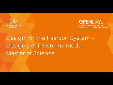 Msc In Design For The Fashion System Design Per Il Sistema Moda Open Days 2020 Youtube