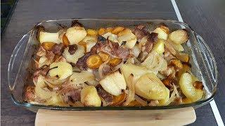 Как приготовить картофель с мясом в духовке BOSCH