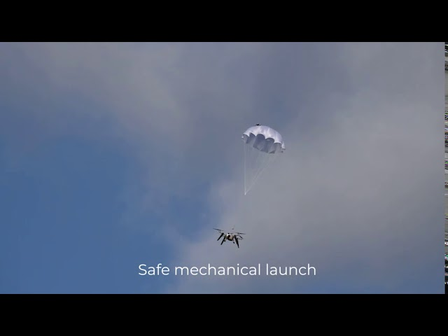 Watch Video: See Percepto's integrated parachute in action