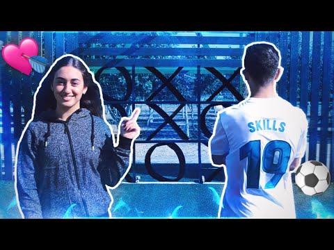 איקס עיגול בכדורגל עם חברה שלי!