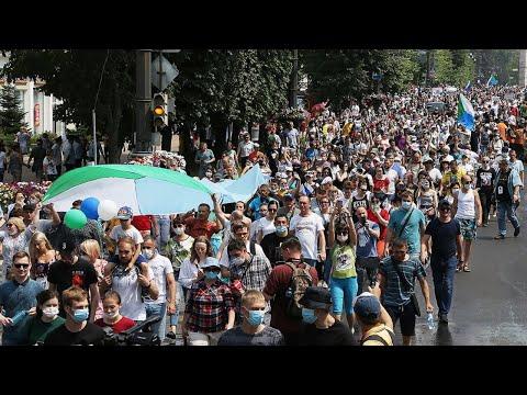 Самый Массовый протест в Хабаровске в поддержку Сергея Фургала. Прямой эфир 25.07.2020