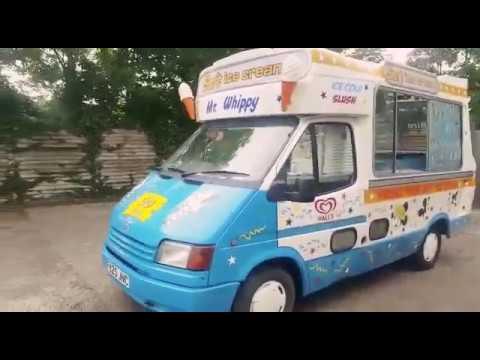 original cummins ford transit 1989 ice cream van exterior. Black Bedroom Furniture Sets. Home Design Ideas