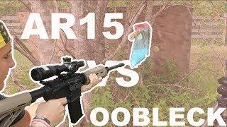 BULLET VS OOBLECK !! CAN A AR15 SHOOT THROUGH OOBLECK??