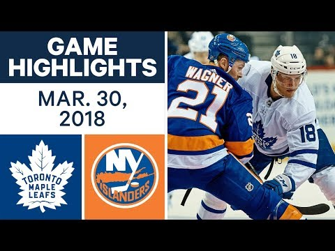 NHL Game Highlights | Maple Leafs vs. Islanders - Mar. 30, 2018