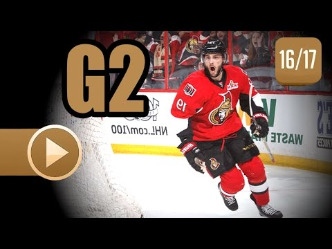 Boston Bruins vs Ottawa Senators. 2017 NHL Playoffs. Round 1. Game 2. April 15th, 2017. (HD)