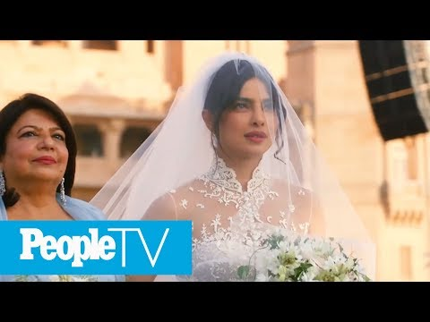 Watch Priyanka Chopra's Dramatic Walk Down The Aisle To Marry Nick Jonas  PeopleTV