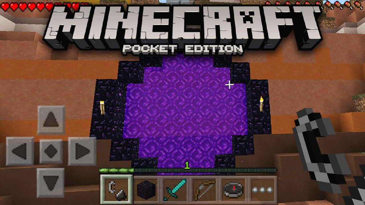 nether portal in minecraft pe