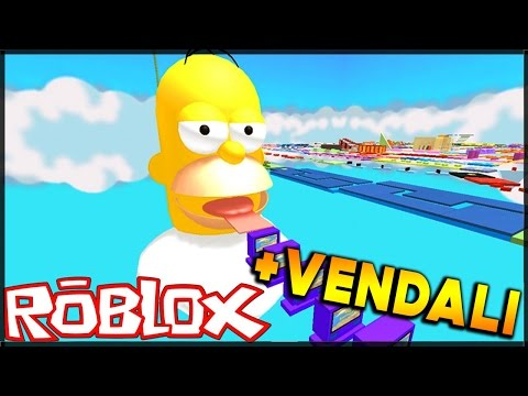 HOMER SIMPSON OBBY!!! - (Escape Homer Simpson Obby) + VENDALI