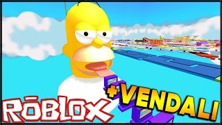 HOMER SIMPSON OBBY!!! - (Escape Homer Simpson Obby) + VENDALI