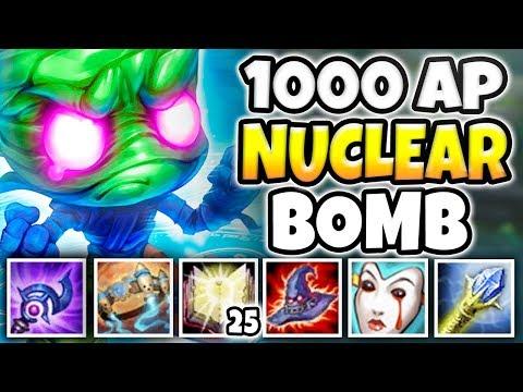 1000 AP NUCLEAR BOMB AMUMU! INSTANT AOE NUKE EVERYONE (ONE SHOT TEAMS) - League of Legends
