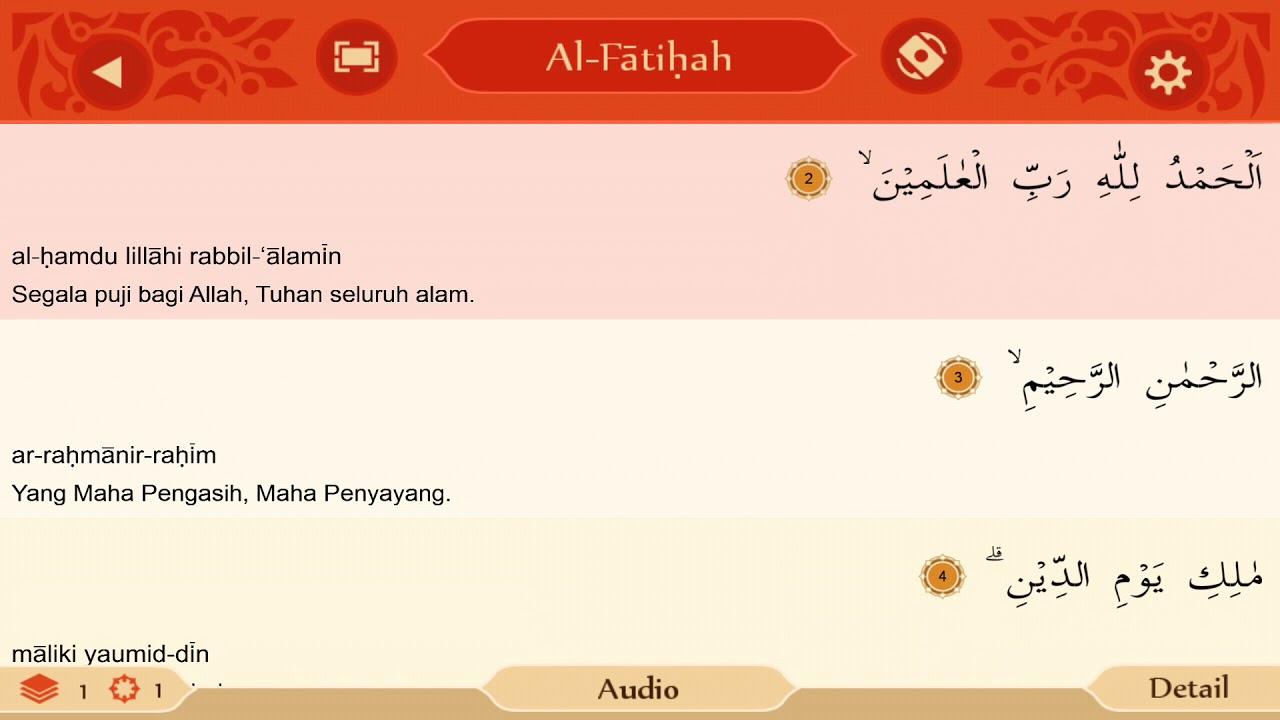 quotes olistic terjemahan maksud alfatihah