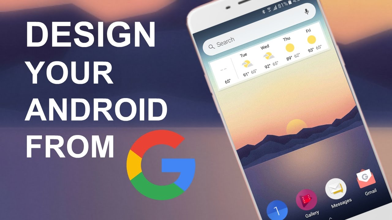 Design Your Android Homescreen From Google - YouTube