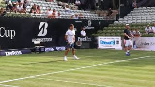 Roger Federer first practice at MercedesCup 2018