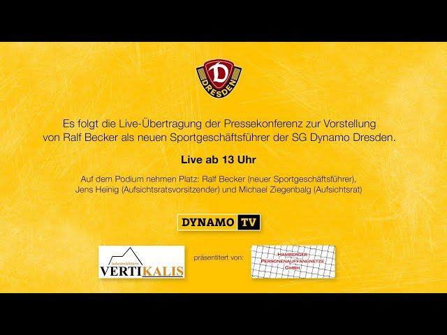 Liveübertragung: Presskonferenz zur Vorstellung von Ralf Becker
