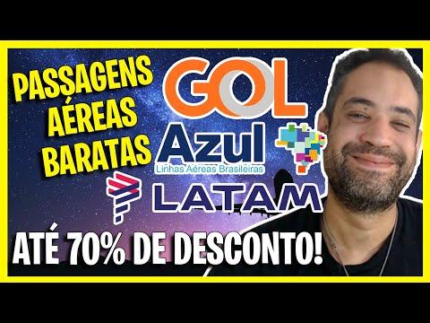 70% DE DESCONTO! GOL, AZUL E LATAM PASSAGENS ÁEREAS MUITO BARATAS!