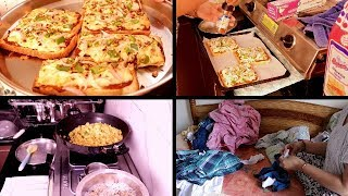 Afternoon to Evening Routine || Making Bread Pizza || Indian youtuber Neelam